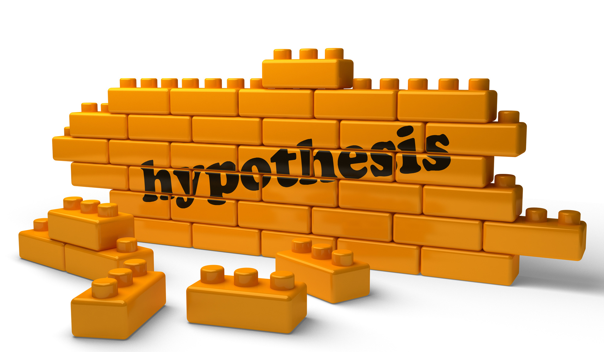 hypothesis word on yellow brick wall