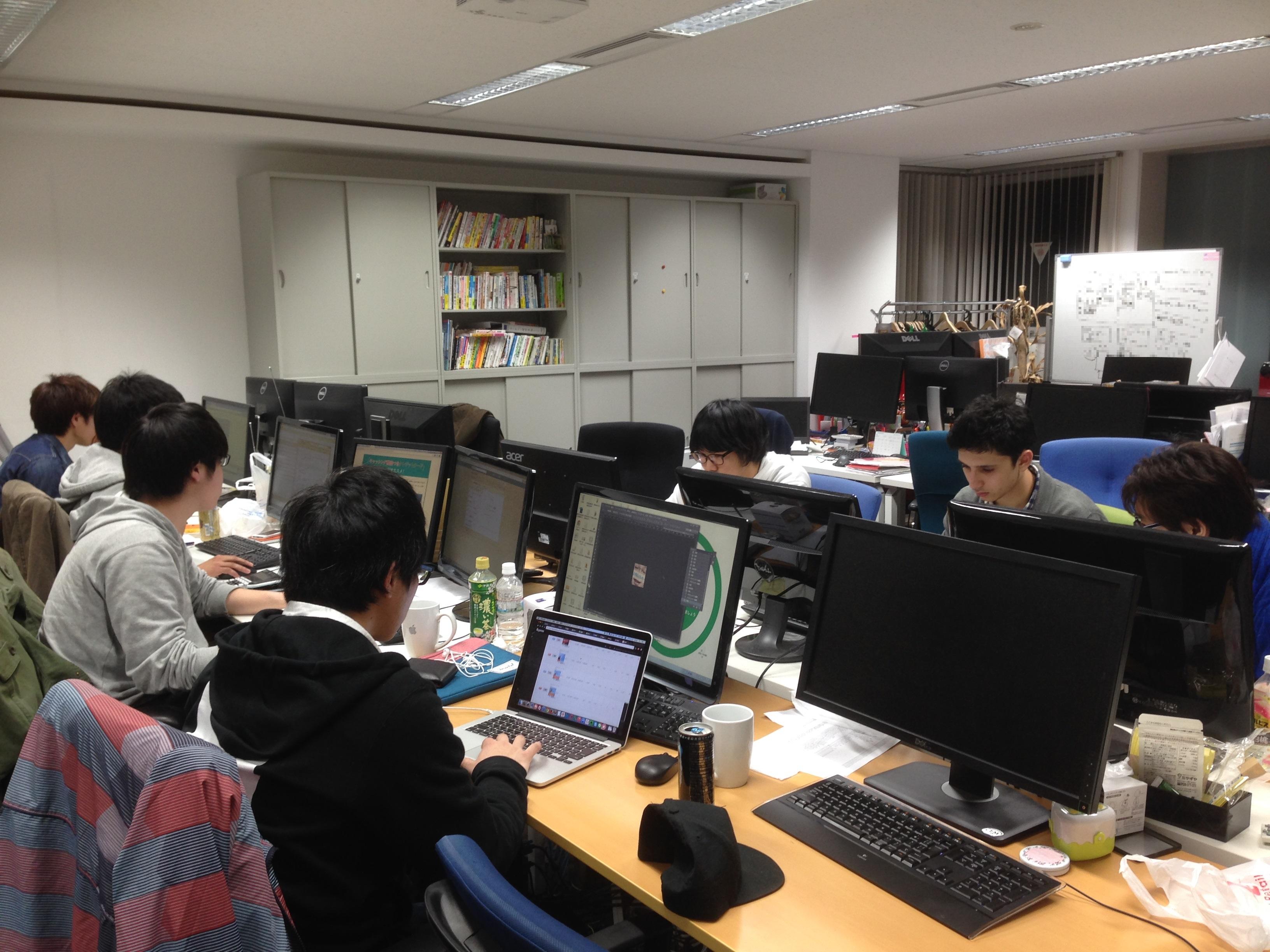 上野オフィス時代の業務風景